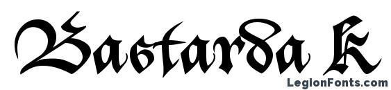 шрифт Bastarda K, бесплатный шрифт Bastarda K, предварительный просмотр шрифта Bastarda K