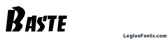Шрифт Baste