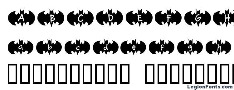 глифы шрифта Bat Ben, символы шрифта Bat Ben, символьная карта шрифта Bat Ben, предварительный просмотр шрифта Bat Ben, алфавит шрифта Bat Ben, шрифт Bat Ben