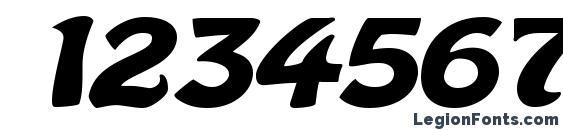 Batavia Bold Font, Number Fonts