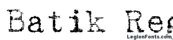 Batik Regular font, free Batik Regular font, preview Batik Regular font