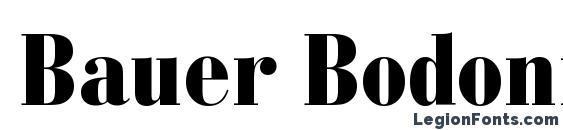 Шрифт Bauer Bodoni Black Condensed BT