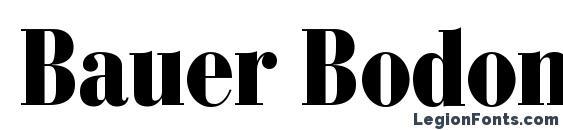 Bauer Bodoni Black Condensed Font