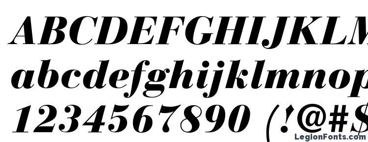 глифы шрифта Bauer Bodoni Black Italic, символы шрифта Bauer Bodoni Black Italic, символьная карта шрифта Bauer Bodoni Black Italic, предварительный просмотр шрифта Bauer Bodoni Black Italic, алфавит шрифта Bauer Bodoni Black Italic, шрифт Bauer Bodoni Black Italic