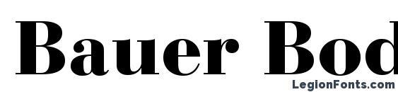 Bauer Bodoni Black Font Download Free / LegionFonts