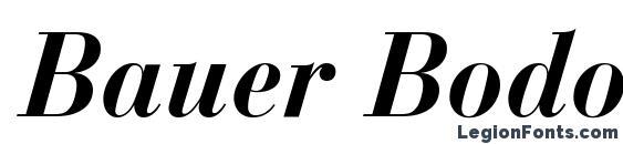Bauer Bodoni Bold Italic Font