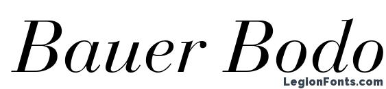 Шрифт Bauer Bodoni Italic Oldstyle Figures