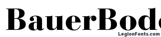 BauerBodoniStd Black Font