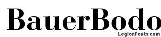 BauerBodoniStd Bold Font