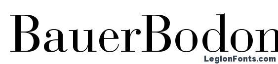 BauerBodoniStd Roman Font