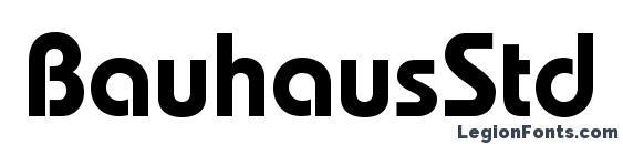 BauhausStd Demi Font
