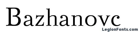 шрифт Bazhanovc, бесплатный шрифт Bazhanovc, предварительный просмотр шрифта Bazhanovc