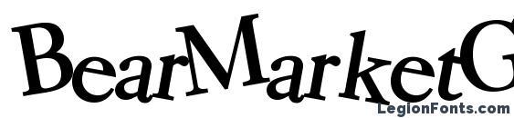 BearMarketGear7 Bold Font