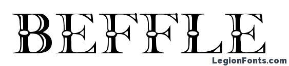 Шрифт Beffle