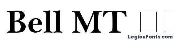 Bell MT Полужирный Font