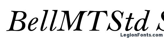 BellMTStd SemiBoldItalic Font, Calligraphy Fonts