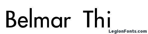 Belmar Thin font, free Belmar Thin font, preview Belmar Thin font