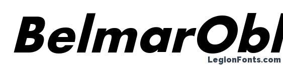 Шрифт BelmarObl Bold