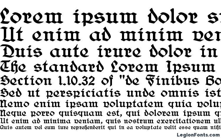 specimens Belwe Gotisch font, sample Belwe Gotisch font, an example of writing Belwe Gotisch font, review Belwe Gotisch font, preview Belwe Gotisch font, Belwe Gotisch font