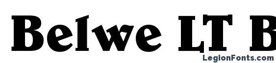 шрифт Belwe LT Bold, бесплатный шрифт Belwe LT Bold, предварительный просмотр шрифта Belwe LT Bold