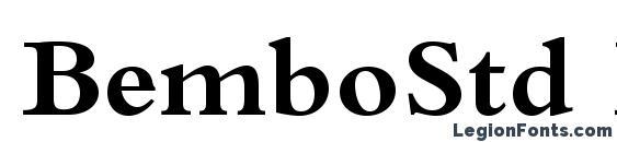 BemboStd Bold font, free BemboStd Bold font, preview BemboStd Bold font