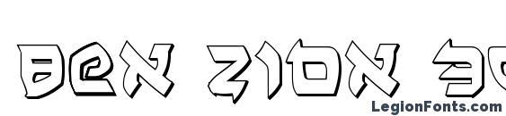Ben Zion 3D Font