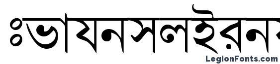 Шрифт BengaliDhakaSSK, Арабские шрифты