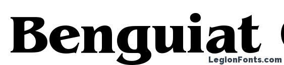 Benguiat Cyrillic Bold Font
