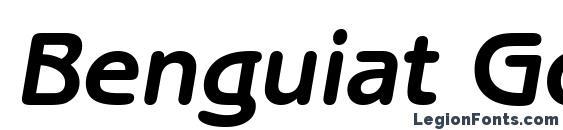 Шрифт Benguiat Gothic Bold Italic BT