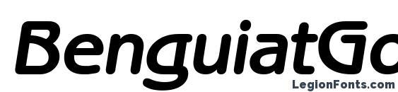 Шрифт BenguiatGothicCTT BoldItalic