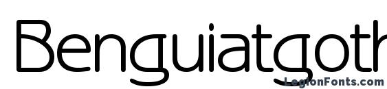 Benguiatgothicctt regular Font
