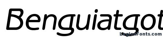 Шрифт Benguiatgothicmediumc italic