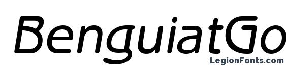BenguiatGothicStd MediumObl Font