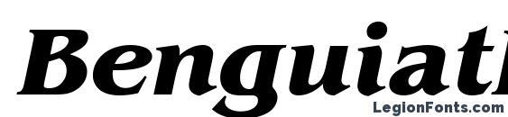 BenguiatItcTEE Bold Italic Font