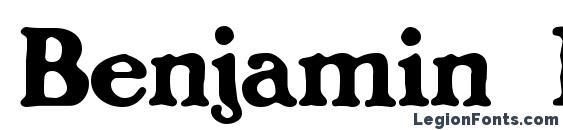 Шрифт Benjamin Franklin, Симпатичные шрифты