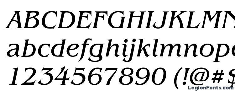 глифы шрифта Benjamin Italic, символы шрифта Benjamin Italic, символьная карта шрифта Benjamin Italic, предварительный просмотр шрифта Benjamin Italic, алфавит шрифта Benjamin Italic, шрифт Benjamin Italic