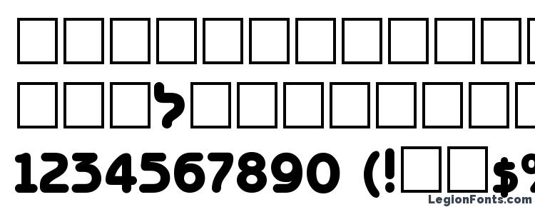 glyphs BenzionTT Bold font, сharacters BenzionTT Bold font, symbols BenzionTT Bold font, character map BenzionTT Bold font, preview BenzionTT Bold font, abc BenzionTT Bold font, BenzionTT Bold font