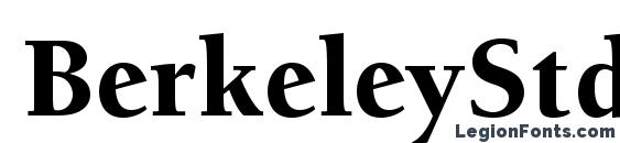 шрифт BerkeleyStd Black, бесплатный шрифт BerkeleyStd Black, предварительный просмотр шрифта BerkeleyStd Black