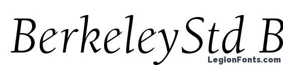 BerkeleyStd BookItalic Font
