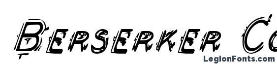 Berserker Condensed Italic Font, 3D Fonts