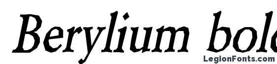 Шрифт Berylium bold Italic