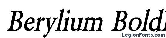 Berylium BoldItalic Font