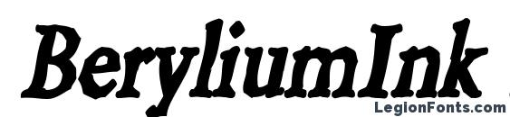 Шрифт BeryliumInk Italic