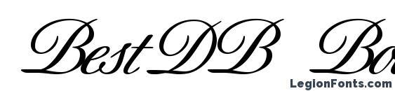 Шрифт BestDB Bold