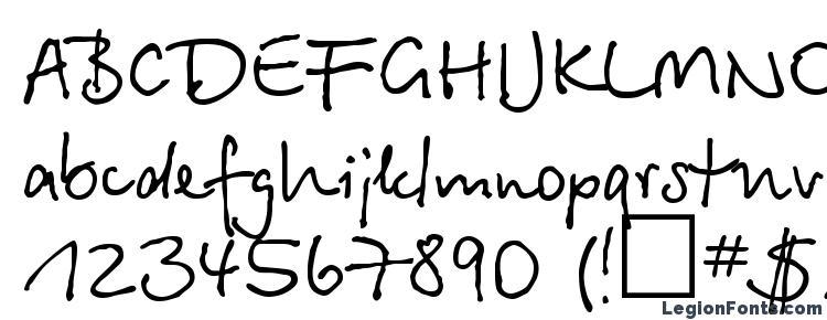 глифы шрифта Betinascript normal, символы шрифта Betinascript normal, символьная карта шрифта Betinascript normal, предварительный просмотр шрифта Betinascript normal, алфавит шрифта Betinascript normal, шрифт Betinascript normal