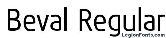 Beval Regular Font