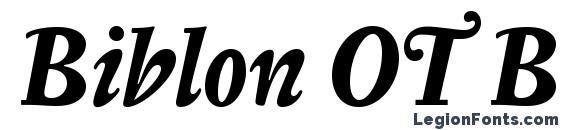 шрифт Biblon OT Bold Italic, бесплатный шрифт Biblon OT Bold Italic, предварительный просмотр шрифта Biblon OT Bold Italic