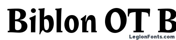 Biblon OT Bold Font