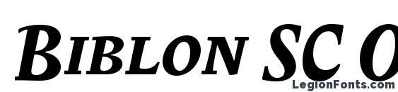 Шрифт Biblon SC OT Bold Italic, OTF шрифты
