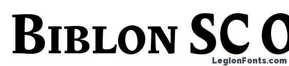 Шрифт Biblon SC OT Bold
